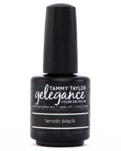 Tammy Taylor Gelegance Gel Polish in Ferosh Black